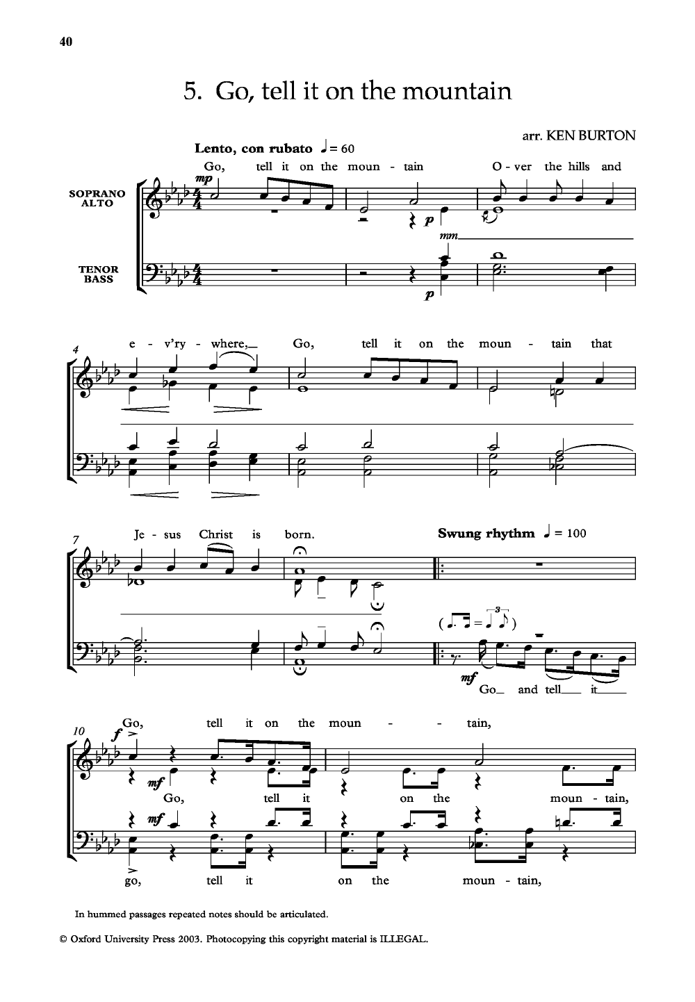 Christmas Spirituals for (SATB Choral Score& | J.W. Pepper Sheet Music